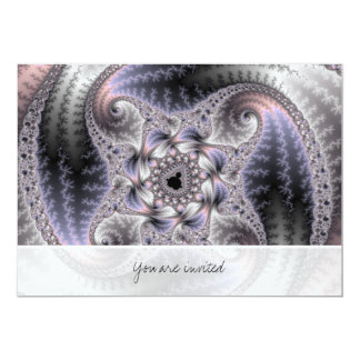 You Spin Me Round - Fractal Art 13 Cm X 18 Cm Invitation Card