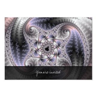 You Spin Me Round - Fractal Art 13 Cm X 18 Cm Invitation Card