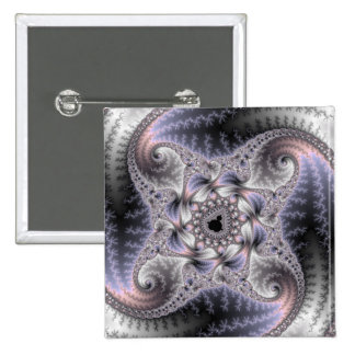 You Spin Me Round - Fractal Art 15 Cm Square Badge