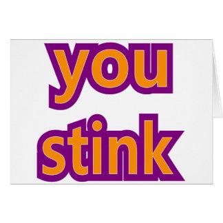 You Stink Skins Greeting Card