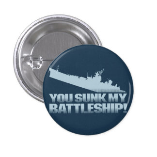 You sunk my battleship Retro Flair Button