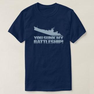 You Sunk My Battleship Retro Typography Gamer Dark T-Shirt