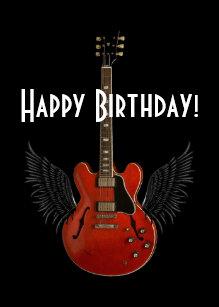 Guitar Birthday Cards
