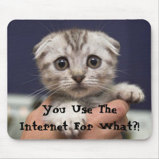 You Use The Internet For What?! Mouse Mat