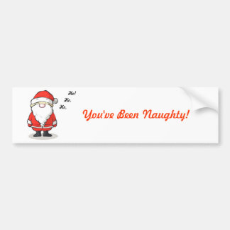 You ve Been Naughty - Christmas Bumper Sticker