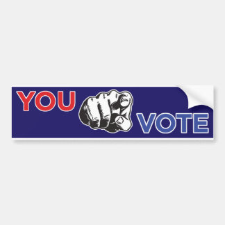 You Vote Bumper Sticker