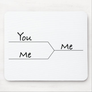 """""""You Vs. Me"""" March Madness-Style Bracket Mouse Pad"""
