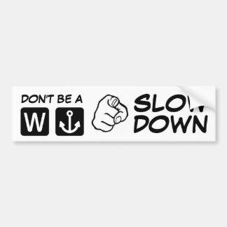 You W Anchor Bumper Sticker