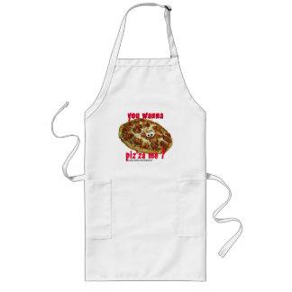 'you wanna piz'za me?' humorous parody apron