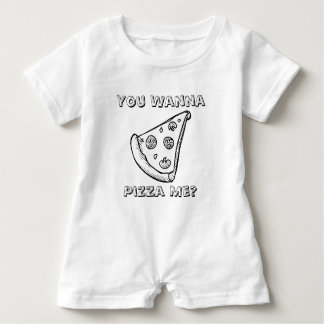 You Want a Pizza Me - Food Pun Baby Romper Baby Bodysuit