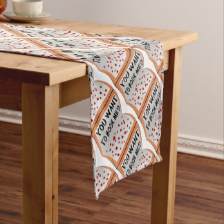 You want to book me? short table runner