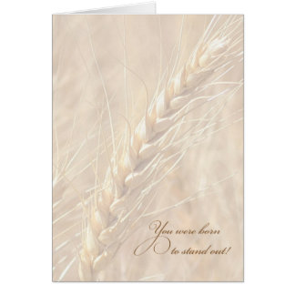 You Were Born to Stand Out / Wheat Birthday Card