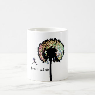 You Wish Dandelion Mug, Color Coffee Mug