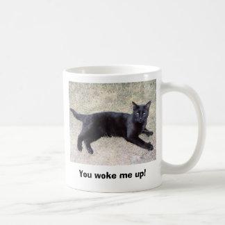 You woke me up! basic white mug
