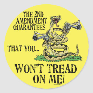 You Won't Tread on Me Round Stickers