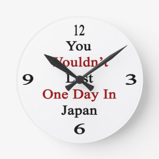 You Wouldn't Last One Day In Japan Clock