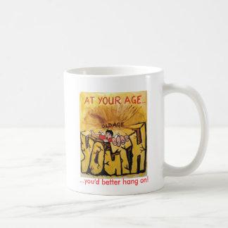 You'd better hang on! basic white mug