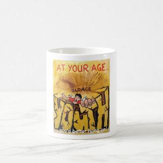 You'd better hang on! coffee mug