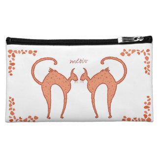 Youko Meow Cat medium Cosmetics Bags