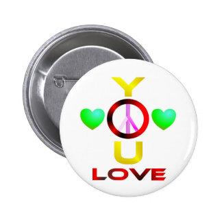 YouLove 6 Cm Round Badge