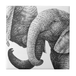 Young African Elephants tile