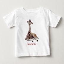 Young African Giraffe Jersey Baby Shirt