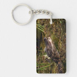 Young Alligator Double-Sided Rectangular Acrylic Key Ring