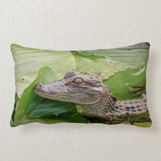 Young Alligator Lumbar Cushion