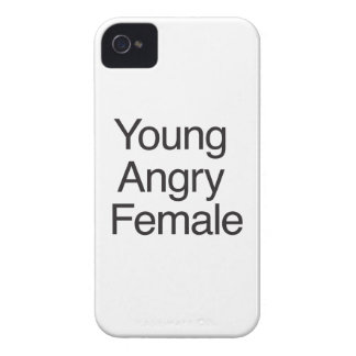Young Angry Female Case-Mate iPhone 4 Cases
