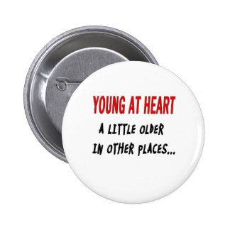 Young at Heart 6 Cm Round Badge