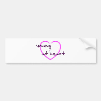 Young at heart bumper sticker