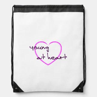 Young at heart drawstring bag