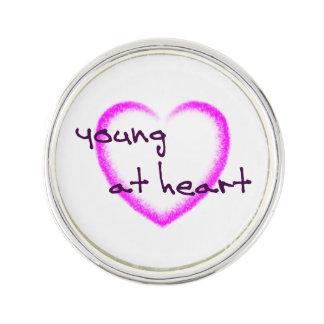 Young at heart lapel pin