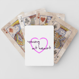 Young at heart playing cards
