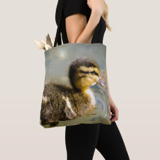 Young Baby Duck Tote Bag