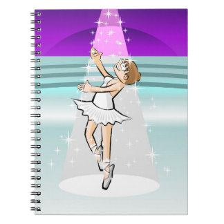 Young ballet shoe of Ballet dances under stars Notebook