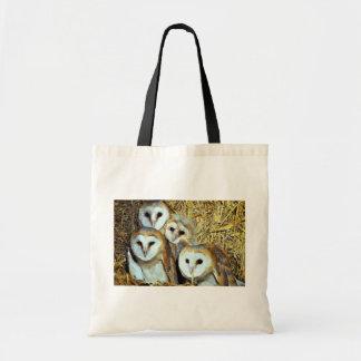 Young barn-owls budget tote bag
