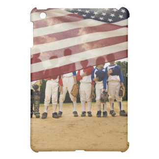 Young baseball players partially hidden by cover for the iPad mini