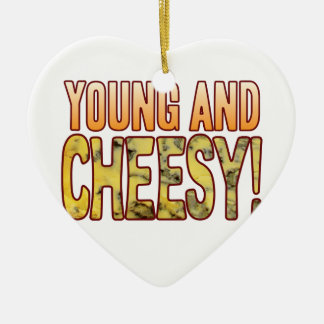 Young Blue Cheesy Ceramic Heart Decoration