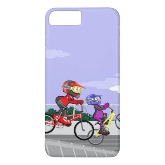 Young BMX cycling competing for being the best one iPhone 8 Plus/7 Plus Case