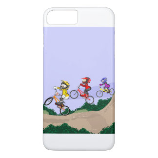 Young BMX cycling lowering the hill with style iPhone 8 Plus/7 Plus Case