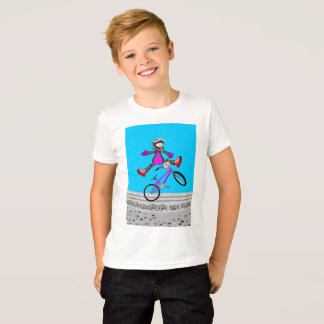 Young BMX jumping by the air with its bicycle T-Shirt