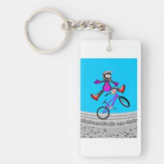 Young BMX making its better pirouette in the air Key Ring