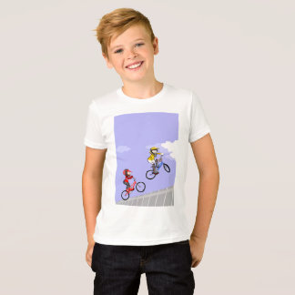 Young BMX of rival equipment competing T-Shirt
