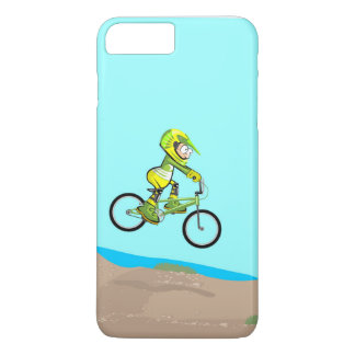 Young BMX of the green equipment lowering the hill iPhone 8 Plus/7 Plus Case