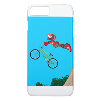 Young BMX of the red equipment gives an extreme iPhone 8 Plus/7 Plus Case