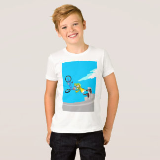Young BMX subjects of their bicycle while it falls T-Shirt