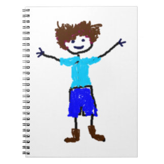 Young Boy - Child s Drawing Note Books