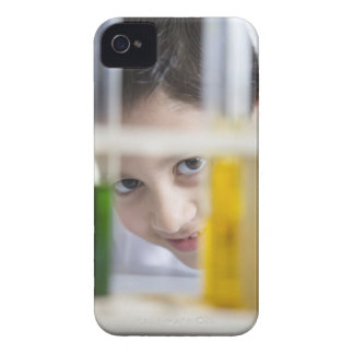 Young boy in chemistry science class, looking iPhone 4 cover