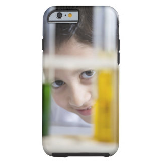 Young boy in chemistry science class, looking tough iPhone 6 case